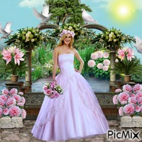 Bride In Stylish Pink