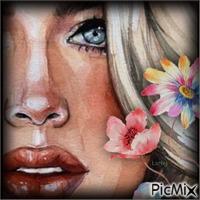 Portrait de femme en aquarelle !!!!