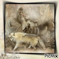 L inconnue et ses loups