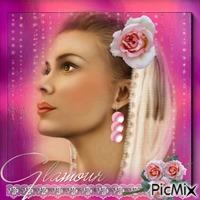 du rose des perles et du glamour
