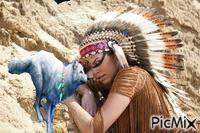 "Native American woman"""