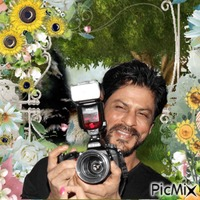 Shahrukh Khan dans un style printannier ou pascal