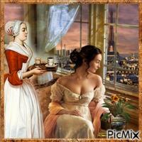 Le thé de madame est servi.