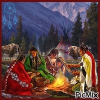 Famille amérindienne.