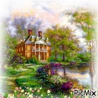 La magnifica casa en el jardin
