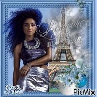 Glamour de Paris bleu et argent🌹🌼