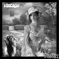 portrait de femme vintage noir et blanc