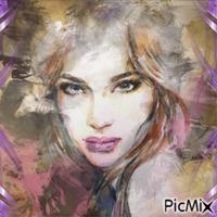 Portrait Femme en aquarelle