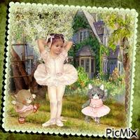 Die kleine Ballerina im Garten