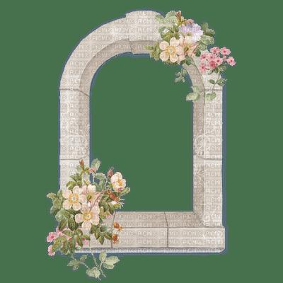 Vintage Flowers Window White