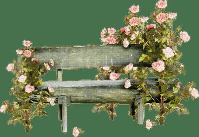banc fleur rose deco bench flowers