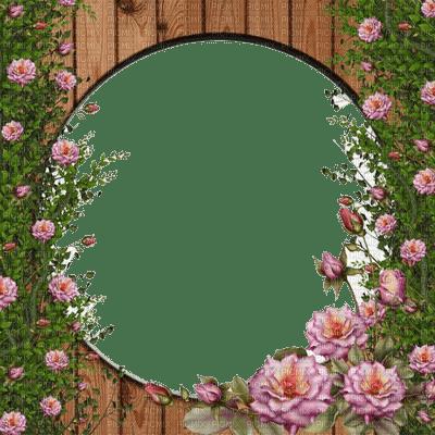 cadre rose pink frame wood roses