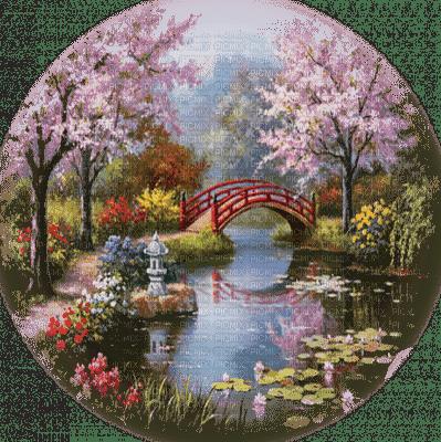 asiatique paysage jardin  asian landscape garden