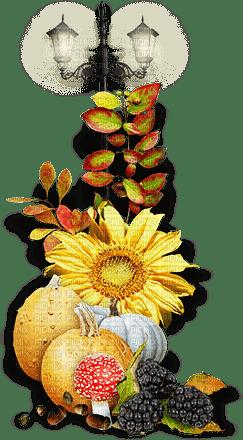 soave deco vintage autumn pumpkin lamp flowers