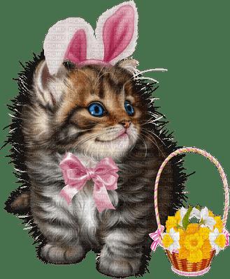 Kaz_Creations Easter Deco Cat Kitten