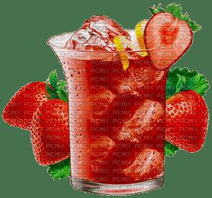 Cocktail fraises glacé