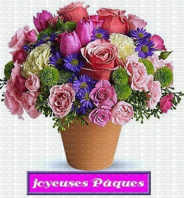 joyeuses pâques fleurs art