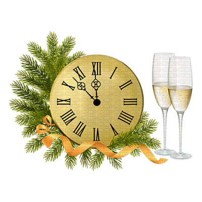clock new year horloge nouvel an