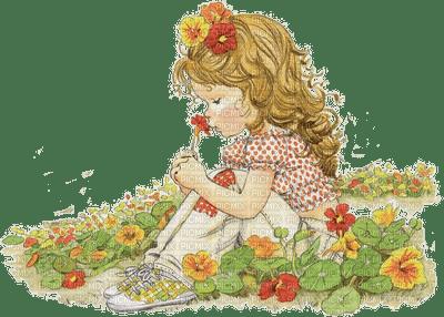 enfant jardin fleur child garden flowers