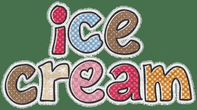 Kaz_Creations Ice Cream Deco Text Logo