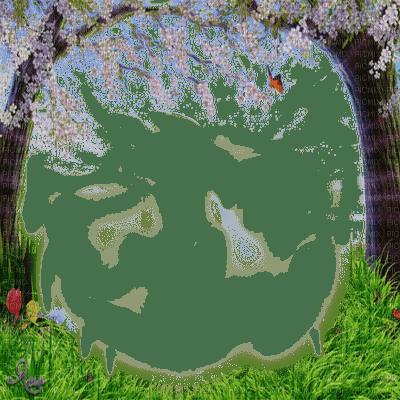 spring frame grass tree cadre Printemps arbre herbe