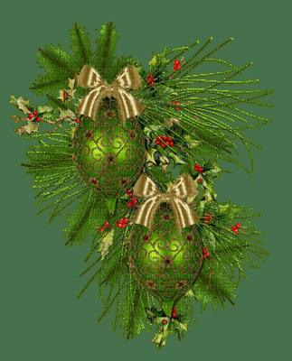 Noël  boules vert  Décorations de noël_Christmas  boules green   decorations_tube