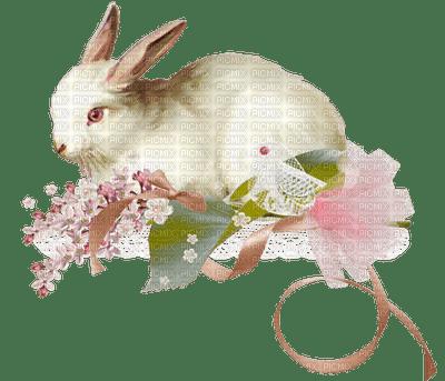 Lapin déco fleurie