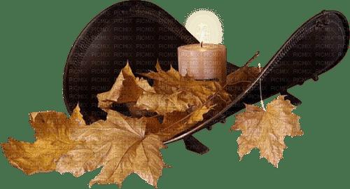 candlestick fire autumn deco