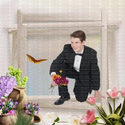 image encre jeune marié texture fleurs mariage cadre edited by me