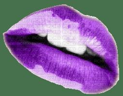 Bisou lèvres violettes