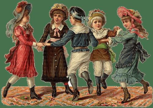 Vintage Children at play Joyful226,Connie