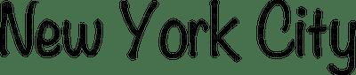 Kaz_Creations Logo Text New York City