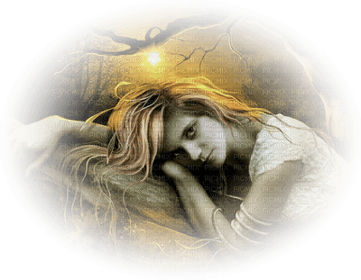 fantasy woman forest femme fantaisie fôret