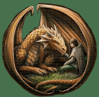 fantasy woman and dragon