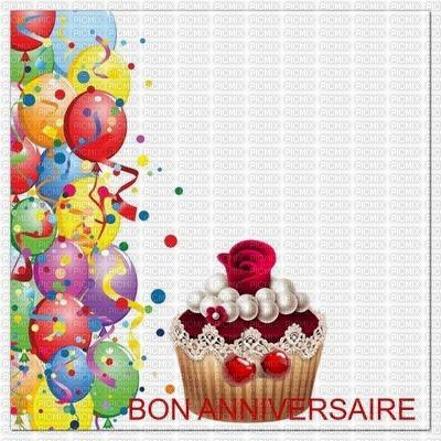 Multicolore Image Encre Gateau Patisserie Bon Anniversaire Ballons