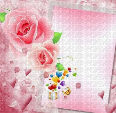 Image Encre Joyeux Anniversaire Fleurs Coeur Texture Roses Rosa