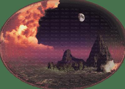 paysage, mer,lune,gif,fond,encre, tube,Irena, paillettes, animation,gif Pelageya