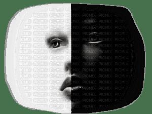visage noir blanc