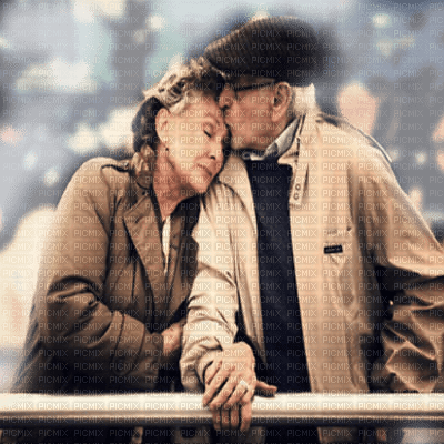 old couple in love
