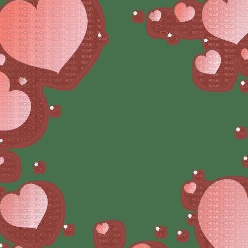Cadre frame rose pink cœur cœurs roses