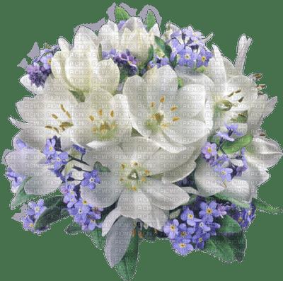 Kaz_Creations Flowers-Fleurs-Blue-White-Purple