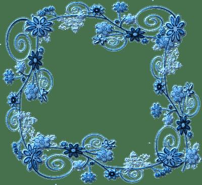 Blue Floral Frame Png