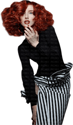 Cleo-femme-noir-blanc