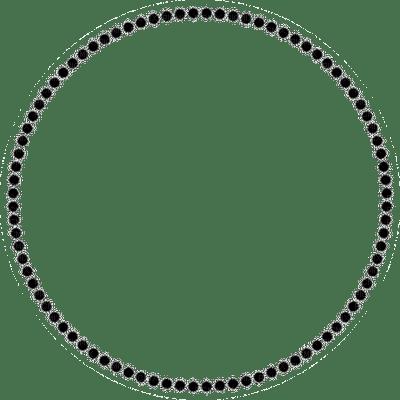 black pearl frame circle