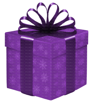 Kaz_Creations Gift Box Birthday Ribbons Bows  Occasion Purple