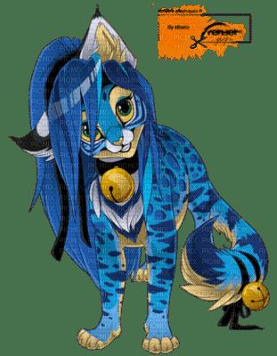 Pant re bleue bleu manga animaux animal chat f lin picmix - Animaux manga ...