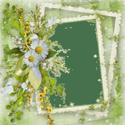 SPRING FRAME FLOWERS GREEN cadre printemps  DECO