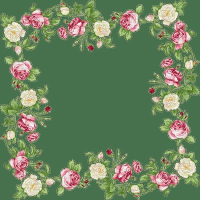 rose fleur  cadre pink flower roses frame
