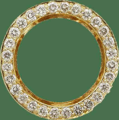 Borda ouro strass redonda