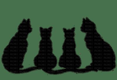 HALLOWEEN BLACK CATS SILHOUETTE
